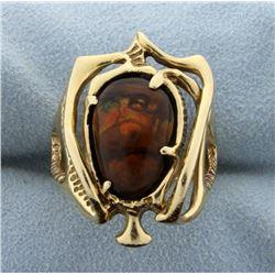 Unique Fire Agate Ring