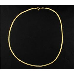 18K Flat S Link Neck Chain