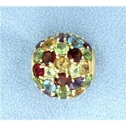 12 ct TW Multi Colored Gemstone Slide