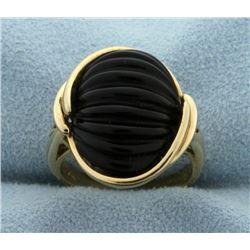 Jet Fashion Ring
