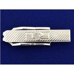 1/2ct Mine Cut Diamond Tie Clip