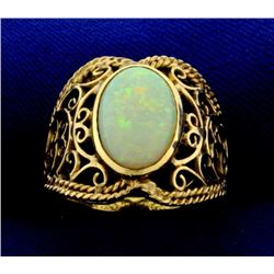Vintage Natural Opal Ring in 14k Gold