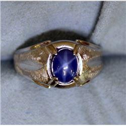 White Gold Star Sapphire Ring