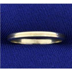 18K White Gold Art Deco Thin Band Ring