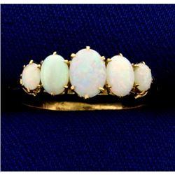 Natural Opal Ring in 14k Rose Gold