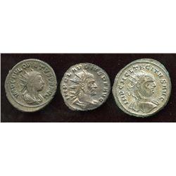 3rd Century Emperor Lot. Billon Antoninianus (3 Pcs)