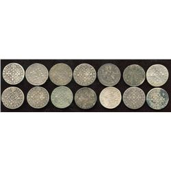 Lot of 14 French 4 sols