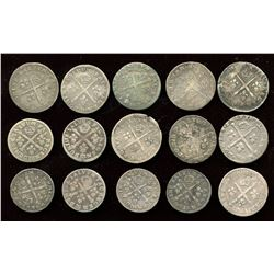 Lot of 15 French 5 sols