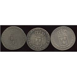 Lot of 3 French ? Ecu,