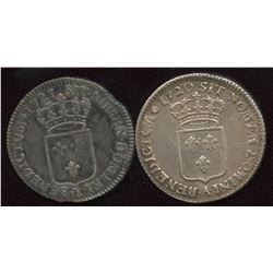 Lot of 2 French ? Ecu,