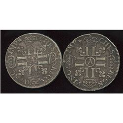 Lot of 2 French ½ Ecu,