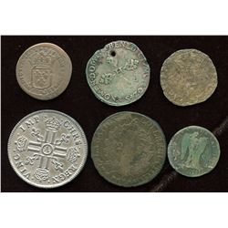 Lot of 6 French coins,