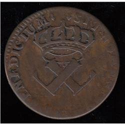 Br. 506.  9 Deniers, 1721-H. (La Rochelle).