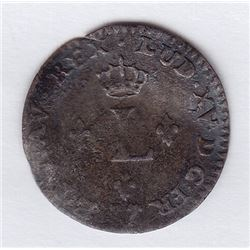 BR 509. Billon Sol of 12 Deniers. 1740 G. (Poitiers).