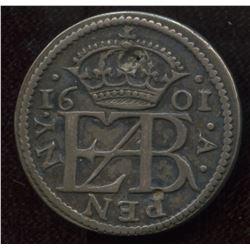 Elizabeth I. (1558-1603) Pattern Penny in Silver