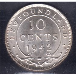 1942C Newfoundland Ten Cents