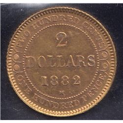 1882H Newfoundland $2 Gold