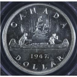 1947 Maple Leaf Silver Dollar - Specimen