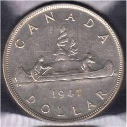 1947 Silver Dollar - Blunt 7