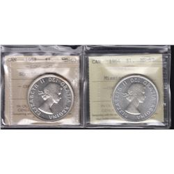 1953 & 1964 Silver Dollars - Lot of 2