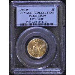 1995 W USA Vault Collection Civil War $5 Gold