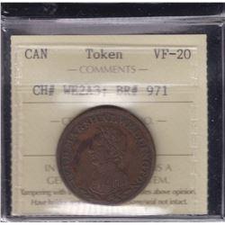 BR 971.Wellington ½ penny, 1813