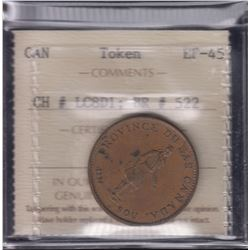 BR 522. Bank of Montreal ½ penny, 1837.