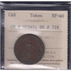 BR 718. Lesslie½ penny.