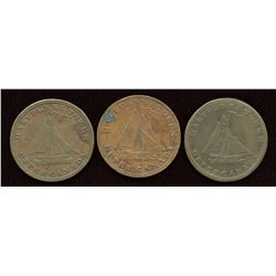BR 727, A trio of Upper Canada sloop tokens.