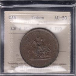 BR 719. Bank of Upper Canada One Penny, 1850.