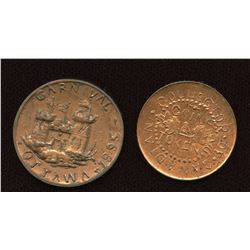 Thomas Church Token Lot of two