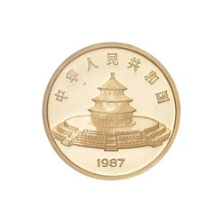 1987 China 500 Yuan Proof Gold 5 Oz Chinese Panda