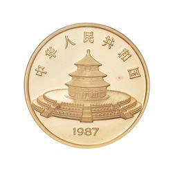 1987 China 1000 Yuan Proof Gold 12 Oz Chinese Panda