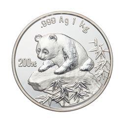 1999 China 200 Yuan 1kg kilo Silver Panda