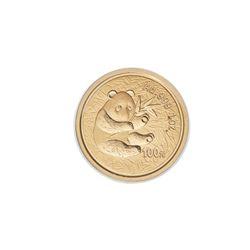 2000 CHINA PANDA 1 oz .999 Fine Gold 100 Yuan Coin People's Republic Mint