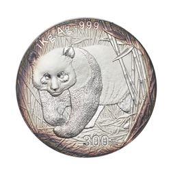 2002 China 300 Yuan 1kg kilo Silver Panda