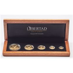 2008 Mexico 1/20, 1/10, 1/4, 1/2, 1oz Gold Libertad Set