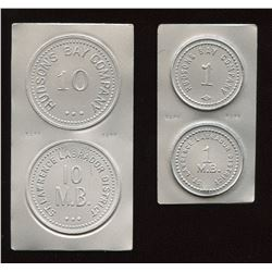 Hudson's Bay Company - White Metal Copies of Uncut Flans of St. Lawrence Labrador District.