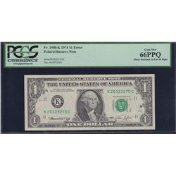 Error Note; USA - $1 1974