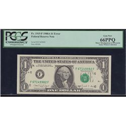 Error Note; USA - $1 1988A