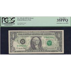 Error Note; USA - $1 1995