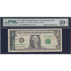 Error Note; USA - $1 1995