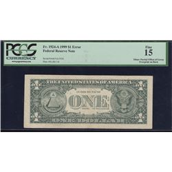 Error Note; USA - $1, 1999