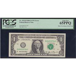 Error Note; USA - $1 2006