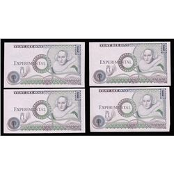 Bank of England - Experimental Test Die Banknote