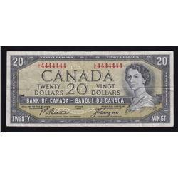 Bank of Canada $20, 1954 Solid Radar