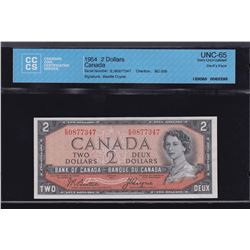 Bank of Canada $2, 1954 - Devil's Face