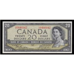 Bank of Canada $20, 1954 - Devil's Face