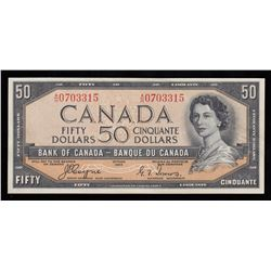 Bank of Canada $50, 1954 - Devil's Face