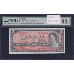 Bank of Canada $2, 1954 Test Note